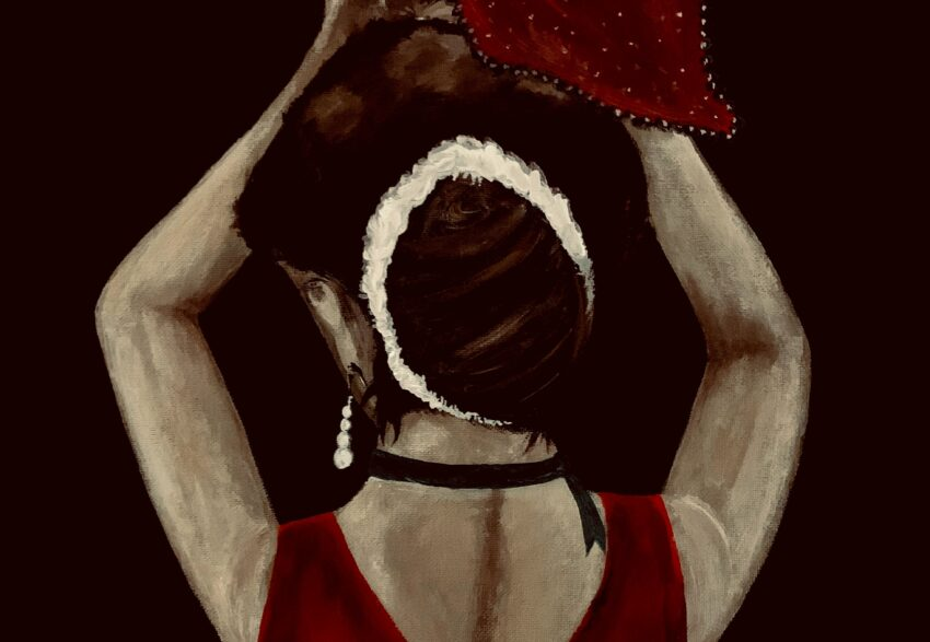 hölgy festmény